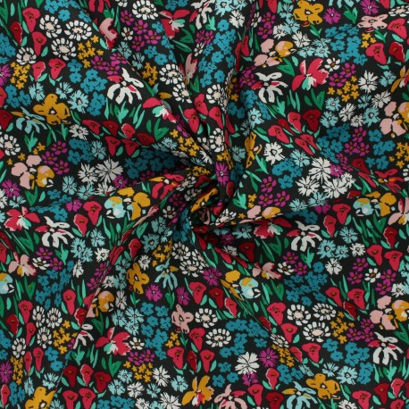 AGF poplin cotton fabric - The Flower Society - Bloomkind Meadow x 10cm