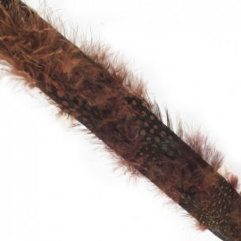 Galon plume feutrine chocolat x 20 cm