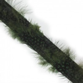Galon plume feutrine kaki x 20 cm