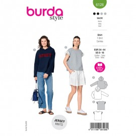 Sweat and t-shirt sewing pattern - Burda Style n°6128
