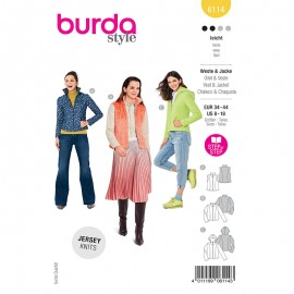Vest and jacket sewing pattern - Burda Style n°6114