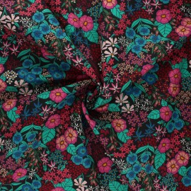 AGF poplin cotton fabric - The flower society - Perennial soiree x 10cm