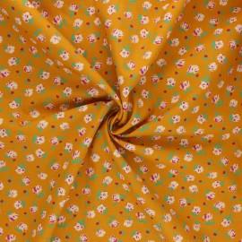 Tissu popeline de coton AGF The flower society - Gentle rosebuds solar x 10cm