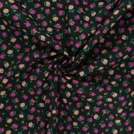 AGF poplin cotton fabric - The flower society - Gentle rosebuds lunar x 10cm