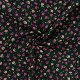 Tissu popeline de coton AGF The flower society - Gentle rosebuds lunar x 10cm