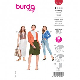Vest and jacket sewing pattern - Burda Style n°6120