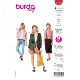 Patron veste sans col Femme - Burda n°6123