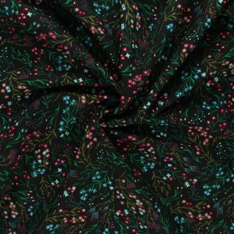 Tissu popeline de coton AGF The flower society - Windswept nocturnal x 10cm
