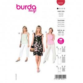 Patron top et robe à bretelles Femme - Burda n°6121