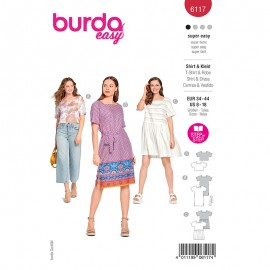 Top and dress sewing pattern - Burda Style n°6117
