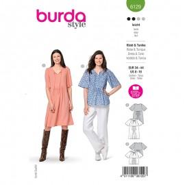 Patron tunique et robe amples Femme - Burda n°6129