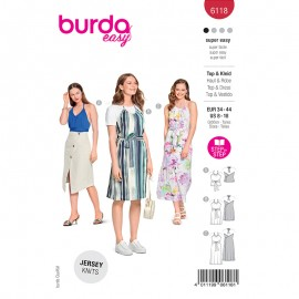 Top and dress sewing pattern - Burda Style n°6118