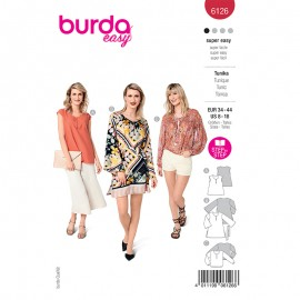Tunic and dress sewing pattern - Burda Style n°6126