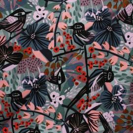 Cloud 9 cotton canvas fabric - Under one sky - Birds & blossoms x 10 cm