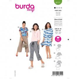 Patron blouse et robe Femme - Burda n°6111