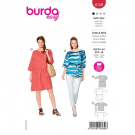 Tunic and dress sewing pattern - Burda Style n°6139