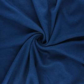 Tissu Mind the Maker Maille Côtelée Ottoman - Bleu canard x 10 cm