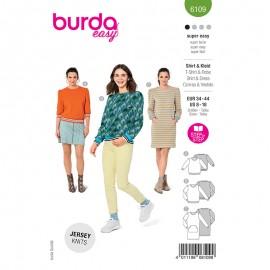 Sweat and dress sewing pattern - Burda Style n°6109