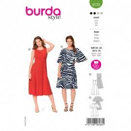 Dress sewing pattern - Burda Style n°6133