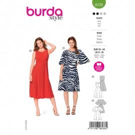 Patron robe manches papillons Femme - Burda n°6133