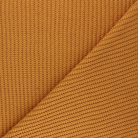 Ribbed knit fabric - honey Mila x 10cm