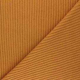 Tissu Maille côtelé Mila - miel x 10cm