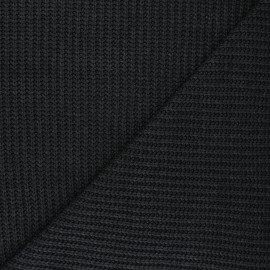 Ribbed knit fabric - anthracite Mila x 10cm