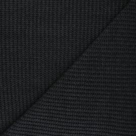 Tissu Maille côtelé Mila - anthracite x 10cm