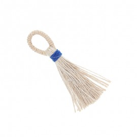 90mm jute pompom - navy blue