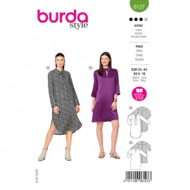 Patron robe col lavallière Femme - Burda n°6127
