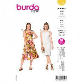 Patron robe à bretelles Femme - Burda n°6140
