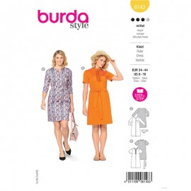 Dress sewing pattern - Burda Style n°6143