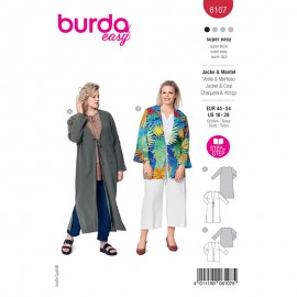 Patron caftan Femme - Burda n°6107