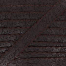 Faux leather ribbon - brown Far West x 50cm