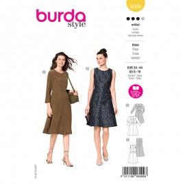 Patron robe trapèze Femme - Burda n°6099