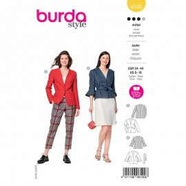 Jacket sewing pattern - Burda Style n°6100