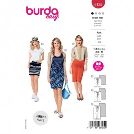 Skirt sewing pattern - Burda Style n°6125