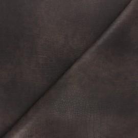 Leather Imitation fabric - brown Bodie x 10cm