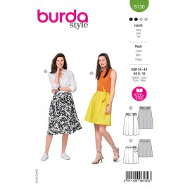 Patron jupe portefeuille Femme - Burda n°6130