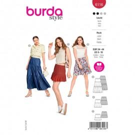 Patron jupe à volants Femme - Burda n°6116