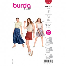 Skirt sewing pattern - Burda Style n°6116