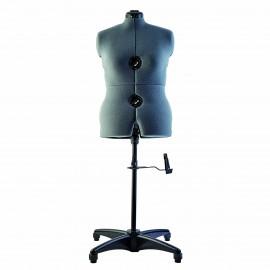Mannequin de couture ajustable - taille M (40-48) - gris