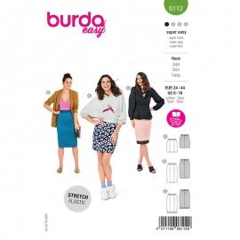 Patron jupe crayon Femme - Burda n°6112