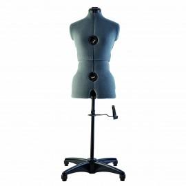 Mannequin de couture ajustable - taille S (36-42) - gris