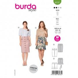Patron jupe à boutons Femme - Burda n°6137