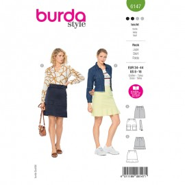 Skirt sewing pattern - Burda Style n°6147
