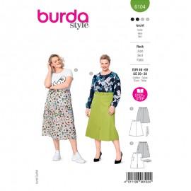 Patron jupe trapèze Femme grande taille - Burda n°6104