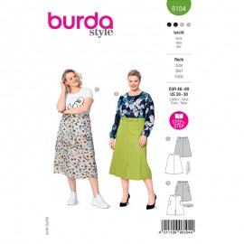 Plus size skirt sewing pattern - Burda Style n°6104