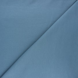 Plain milano jersey fabric - steel blue x 10cm