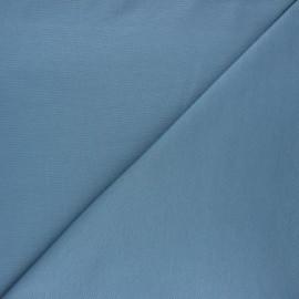 Tissu jersey milano uni - bleu acier x 10cm